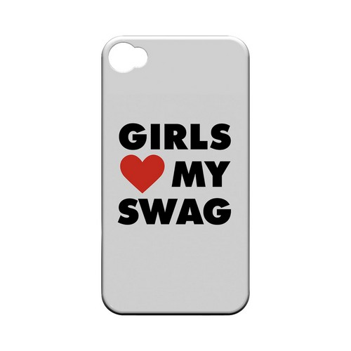 Girls Love My Swag - Geeks Designer Line Swag Series Matte Case for Apple iPhone 4/4S