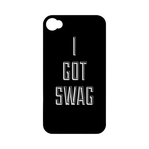 I Got Swag - Geeks Designer Line Swag Series Matte Case for Apple iPhone 4/4S