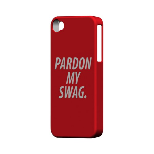 Pardon My Swag - Geeks Designer Line Swag Series Matte Case for Apple iPhone 4/4S