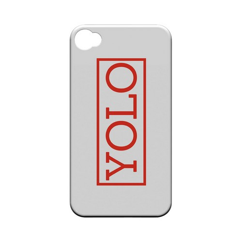 Red YOLO - Geeks Designer Line YOLO Series Matte Case for Apple iPhone 4/4S