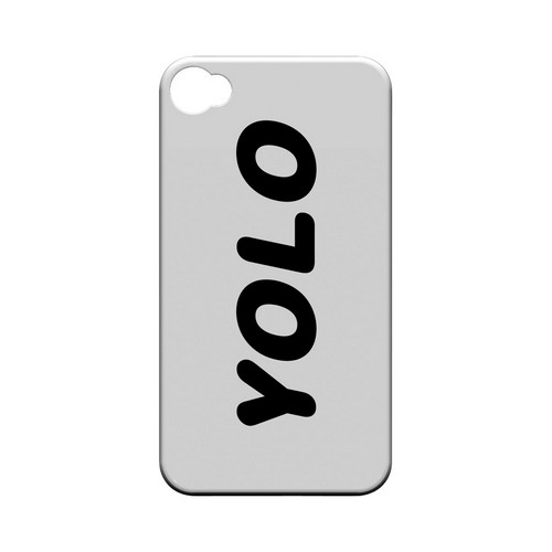 Rounded YOLO - Geeks Designer Line YOLO Series Matte Case for Apple iPhone 4/4S