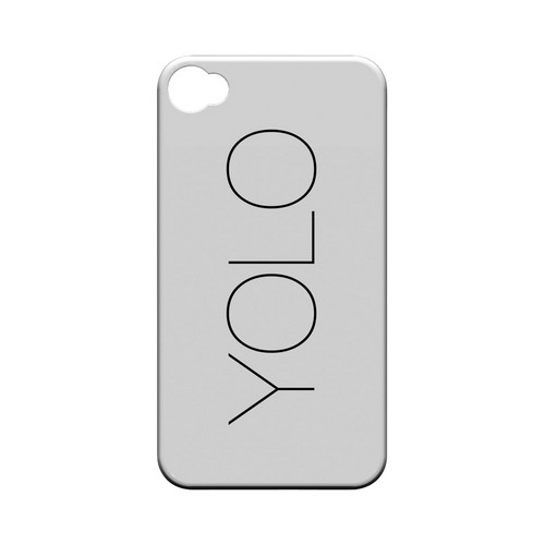 Thin YOLO - Geeks Designer Line YOLO Series Matte Case for Apple iPhone 4/4S