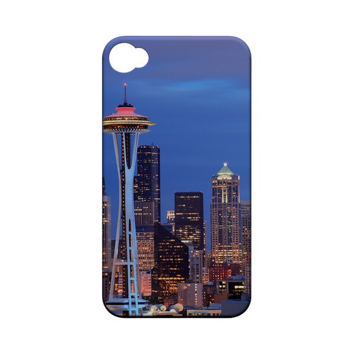 Seattle - Geeks Designer Line City Series Matte Case for Apple iPhone 4/4S