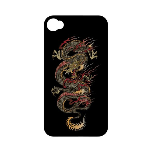 Dragon on Black - Geeks Designer Line Tattoo Series Matte Case for Apple iPhone 4/4S