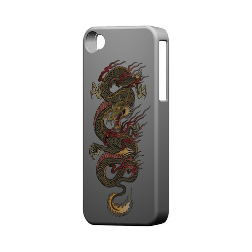 Dragon on Gray Gradient - Geeks Designer Line Tattoo Series Matte Case for Apple iPhone 4/4S