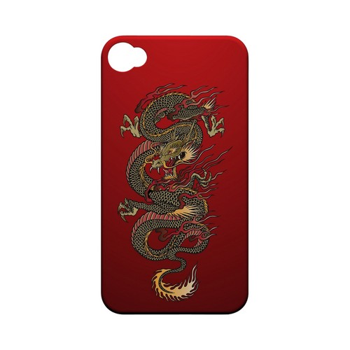 Dragon on Red Gradient - Geeks Designer Line Tattoo Series Matte Case for Apple iPhone 4/4S