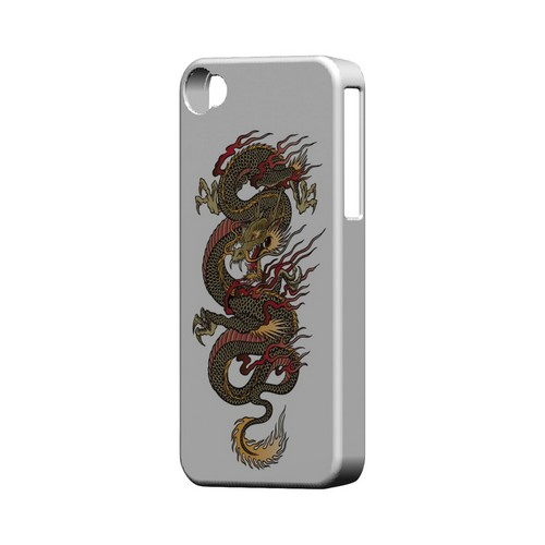 Dragon on White - Geeks Designer Line Tattoo Series Matte Case for Apple iPhone 4/4S