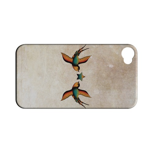 Dual Swallow Star - Geeks Designer Line Tattoo Series Matte Case for Apple iPhone 4/4S