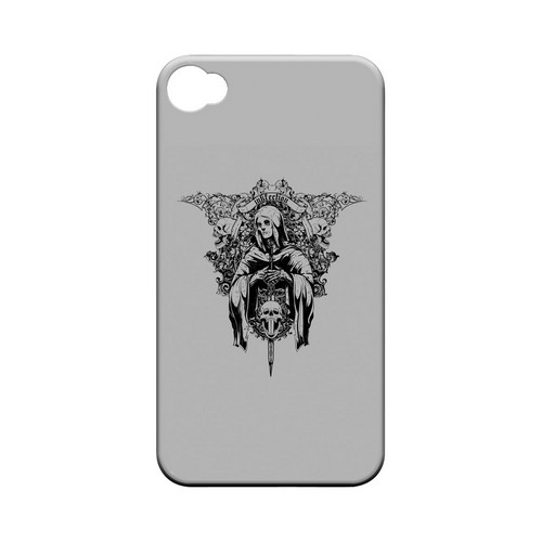 Inkfection on Gray - Geeks Designer Line Tattoo Series Matte Case for Apple iPhone 4/4S