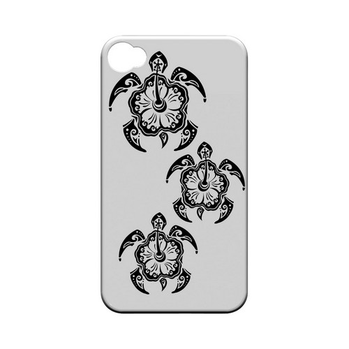Island Turtle Trail - Geeks Designer Line Tattoo Series Matte Case for Apple iPhone 4/4S