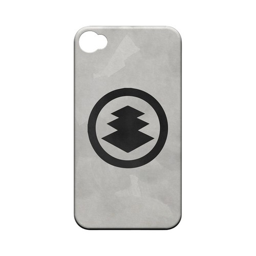 Hishi Kamon on Paper - Geeks Designer Line Tattoo Series Matte Case for Apple iPhone 4/4S