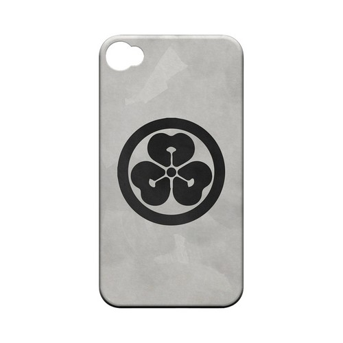 Katabami Kamon on Paper v.4 - Geeks Designer Line Tattoo Series Hard Case for Apple iPhone 4/4S