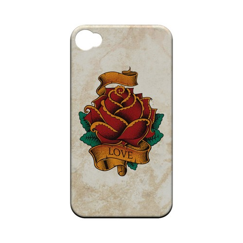 Love Rose - Geeks Designer Line Tattoo Series Hard Case for Apple iPhone 4/4S