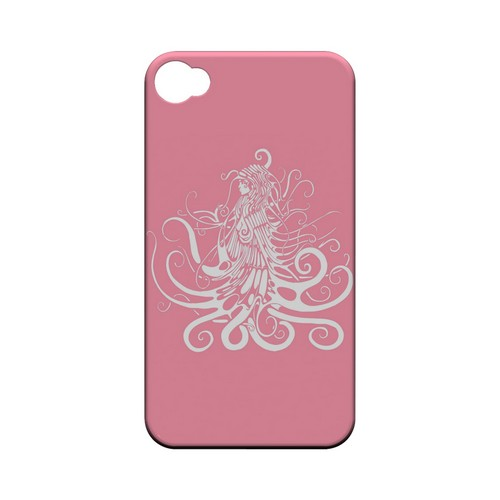 White Medusa on Pink - Geeks Designer Line Tattoo Series Hard Case for Apple iPhone 4/4S