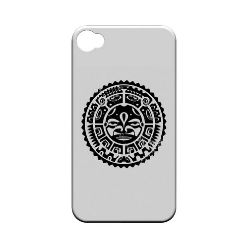 Polynesian Face - Geeks Designer Line Tattoo Series Hard Case for Apple iPhone 4/4S