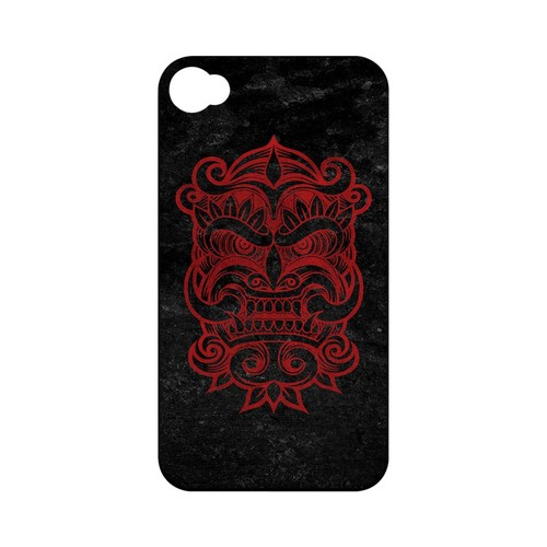 Red Devil Mask - Geeks Designer Line Tattoo Series Hard Case for Apple iPhone 4/4S