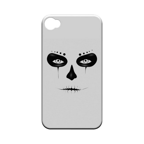 Skull Face - Geeks Designer Line Tattoo Series Hard Case for Apple iPhone 4/4S
