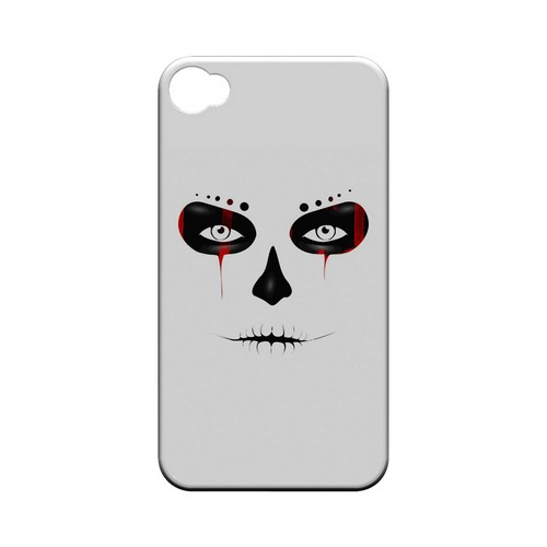 Skull Face Blood - Geeks Designer Line Tattoo Series Hard Case for Apple iPhone 4/4S