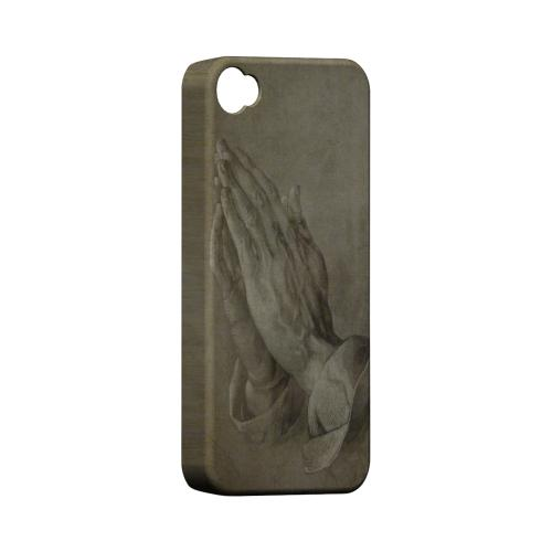 Albrecht Durer Praying Hands Geeks Designer Line Artist Series Matte Hard Case for Apple iPhone 4/4S