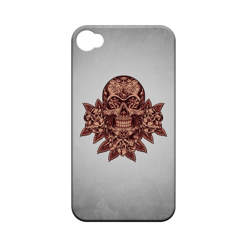 Skull Roses Red Grunge - Geeks Designer Line Tattoo Series Hard Case for Apple iPhone 4/4S