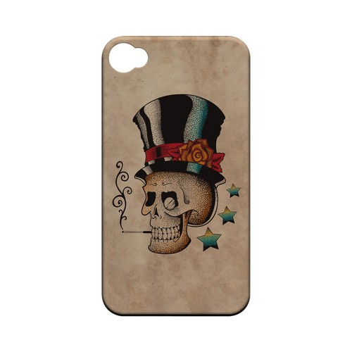 Smoking Skull - Geeks Designer Line Tattoo Series Hard Case for Apple iPhone 4/4S