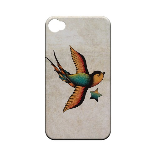 Swallow Star - Geeks Designer Line Tattoo Series Hard Case for Apple iPhone 4/4S