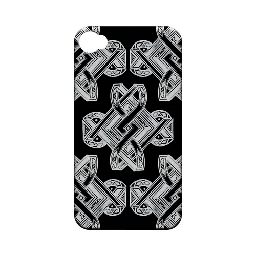 Tribal Art on Black - Geeks Designer Line Tattoo Series Hard Case for Apple iPhone 4/4S