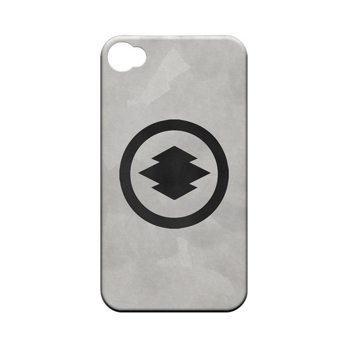 Hishi Kamon on Paper v.2 - Geeks Designer Line Tattoo Series Matte Case for Apple iPhone 4/4S