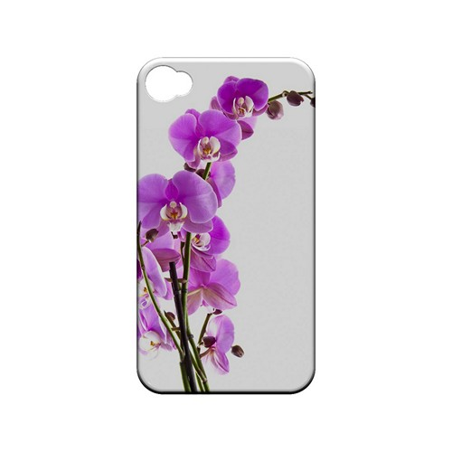 Violet Orchid Rising - Geeks Designer Line Floral Series Matte Case for Apple iPhone 4/4S