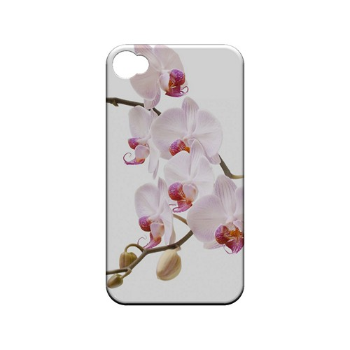 White Pink Orchid - Geeks Designer Line Floral Series Matte Case for Apple iPhone 4/4S