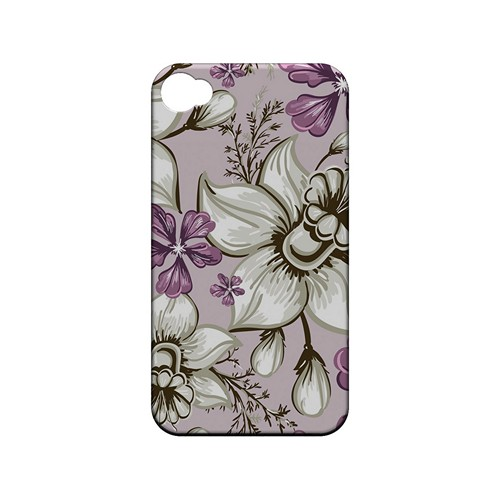 White and Violet Orchids - Geeks Designer Line Floral Series Matte Case for Apple iPhone 4/4S