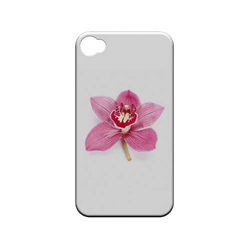 Single Pink Orchid Flower - Geeks Designer Line Floral Series Matte Case for Apple iPhone 4/4S