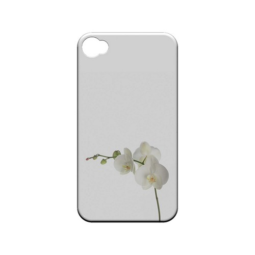 Simple White Orchid - Geeks Designer Line Floral Series Matte Case for Apple iPhone 4/4S