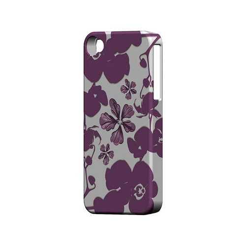 Purple Orchids - Geeks Designer Line Floral Series Matte Case for Apple iPhone 4/4S