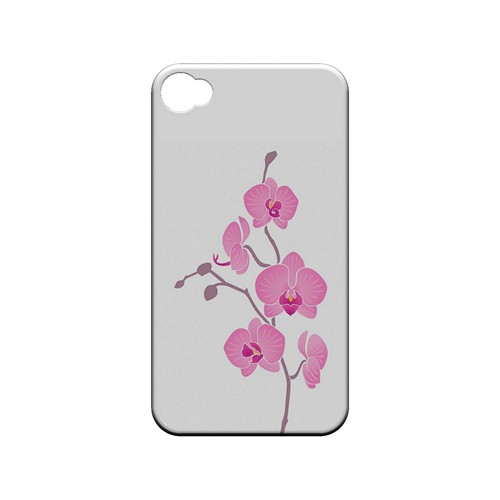Pink Minimal Orchid Art - Geeks Designer Line Floral Series Matte Case for Apple iPhone 4/4S