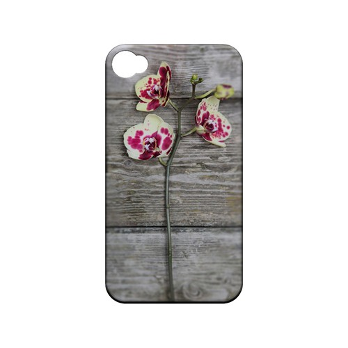 Orchid on Wood - Geeks Designer Line Floral Series Matte Case for Apple iPhone 4/4S