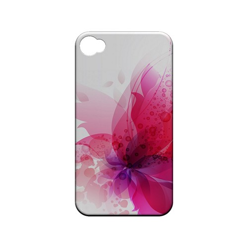 Hot Pink Orchid Swoosh Fade - Geeks Designer Line Floral Series Matte Case for Apple iPhone 4/4S