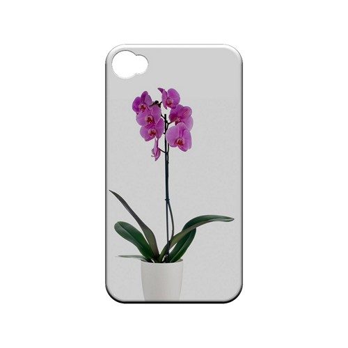 Hot Pink Orchid Plant - Geeks Designer Line Floral Series Matte Case for Apple iPhone 4/4S