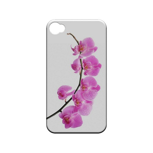 Hot Pink Orchid Curved Branch - Geeks Designer Line Floral Series Matte Case for Apple iPhone 4/4S