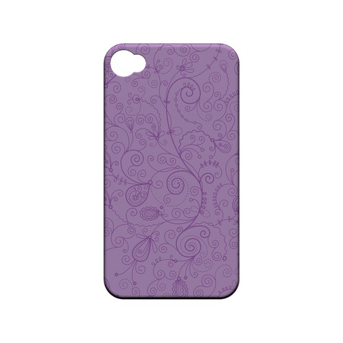 Floral 1 African Violet - Geeks Designer Line Pantone Color Series Matte Case for Apple iPhone 4/4S