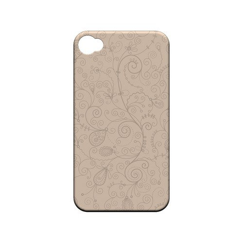 Floral 1 Linen - Geeks Designer Line Pantone Color Series Matte Case for Apple iPhone 4/4S