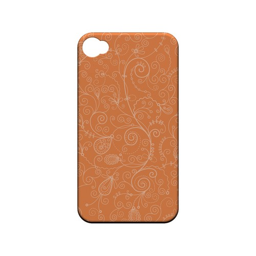 Floral 1 Nectarine - Geeks Designer Line Pantone Color Series Matte Case for Apple iPhone 4/4S