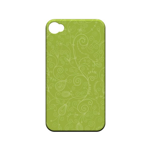 Floral 1 Tender Shoots - Geeks Designer Line Pantone Color Series Matte Case for Apple iPhone 4/4S
