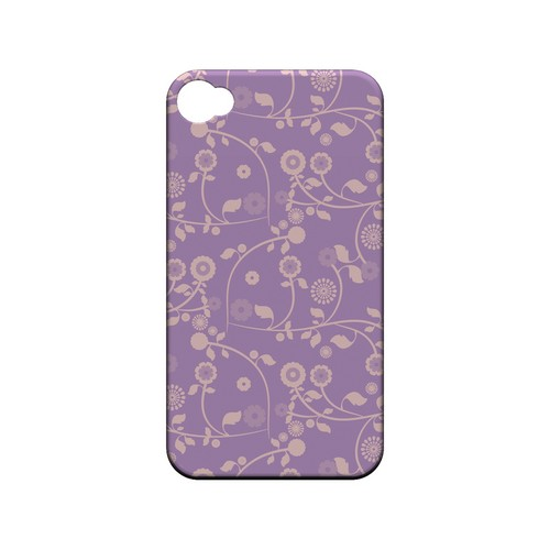 Floral 2 African Violet - Geeks Designer Line Pantone Color Series Matte Case for Apple iPhone 4/4S