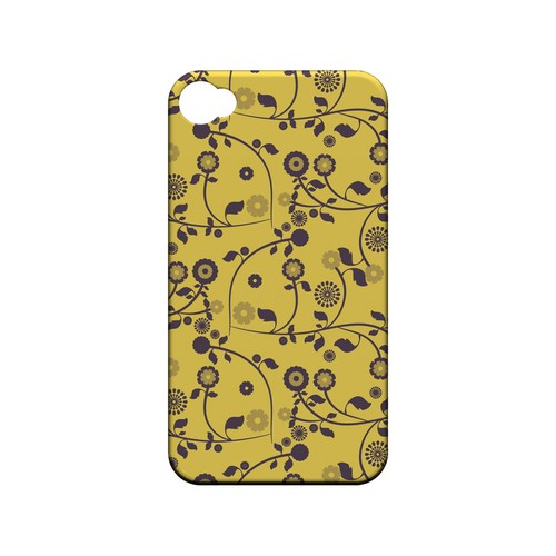 Floral 2 Lemon Zest - Geeks Designer Line Pantone Color Series Matte Case for Apple iPhone 4/4S