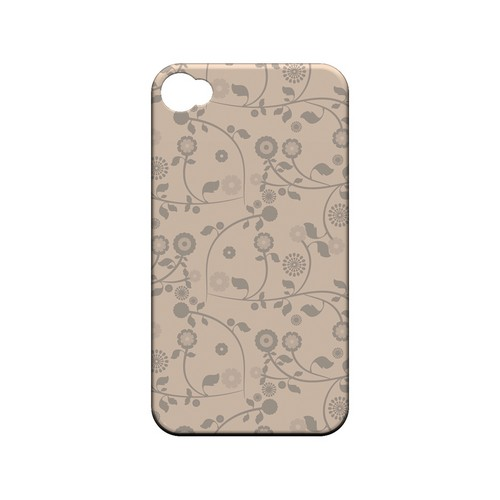 Floral 2 Linen - Geeks Designer Line Pantone Color Series Matte Case for Apple iPhone 4/4S