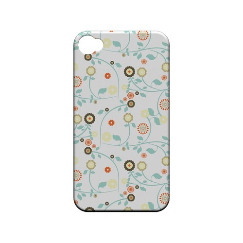 Floral 2 Multi-colored - Geeks Designer Line Pantone Color Series Matte Case for Apple iPhone 4/4S