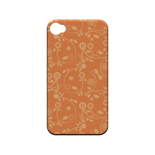 Floral 2 Nectarine - Geeks Designer Line Pantone Color Series Matte Case for Apple iPhone 4/4S