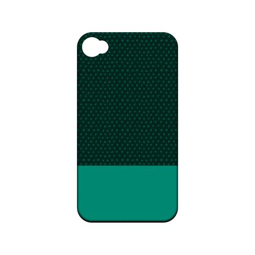 Little Circle Dots Emerald - Geeks Designer Line Pantone Color Series Matte Case for Apple iPhone 4/4S
