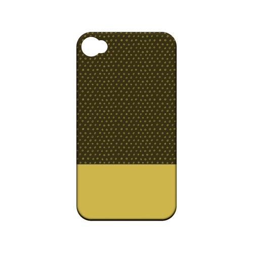 Little Circle Dots Lemon Zest - Geeks Designer Line Pantone Color Series Matte Case for Apple iPhone 4/4S